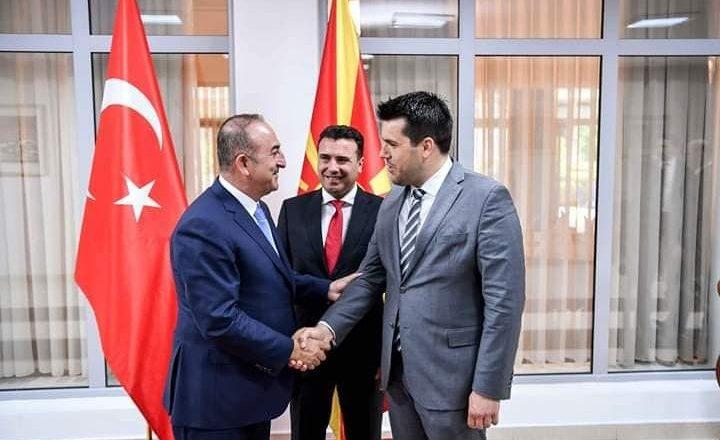 Dışişleri Bakanı Çavuşoğlu Başbakan Zaev ve Bakan Hasan ile Görüştü