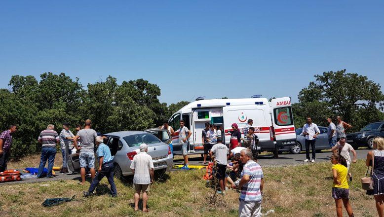 Trafik kazası; 1 ölü 5 yaralı