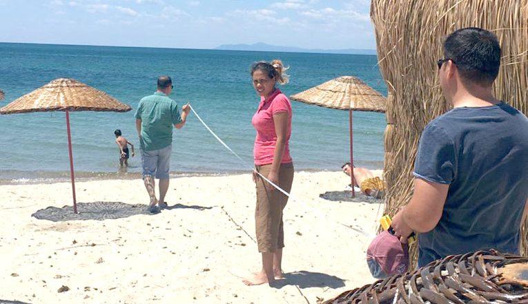 Altınkum Sahili'nde düzenleme yapıldı