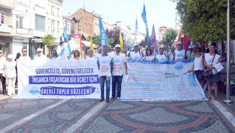 KESK, TİS için Ankara'ya yürüyecek