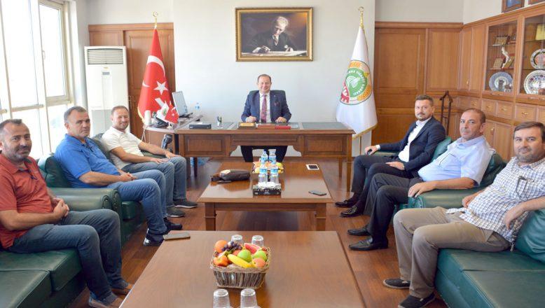 Başkan Balkan'dan borsaya ziyaret