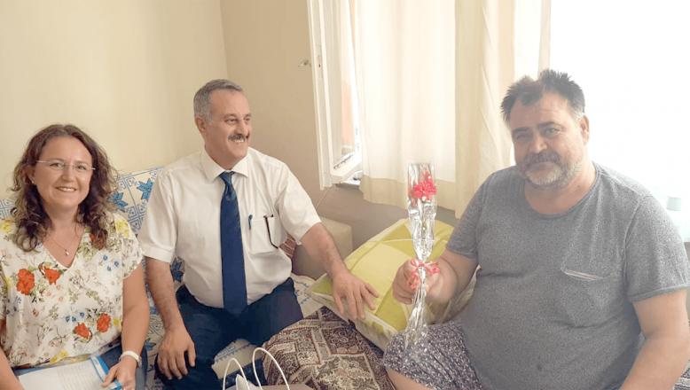 Hastalara bayram öncesi ziyaret