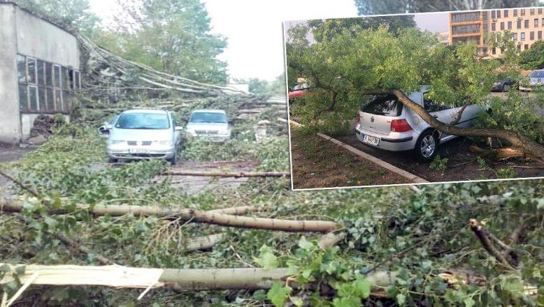 Kırcaali'de fırtına hasarlara yol açtı