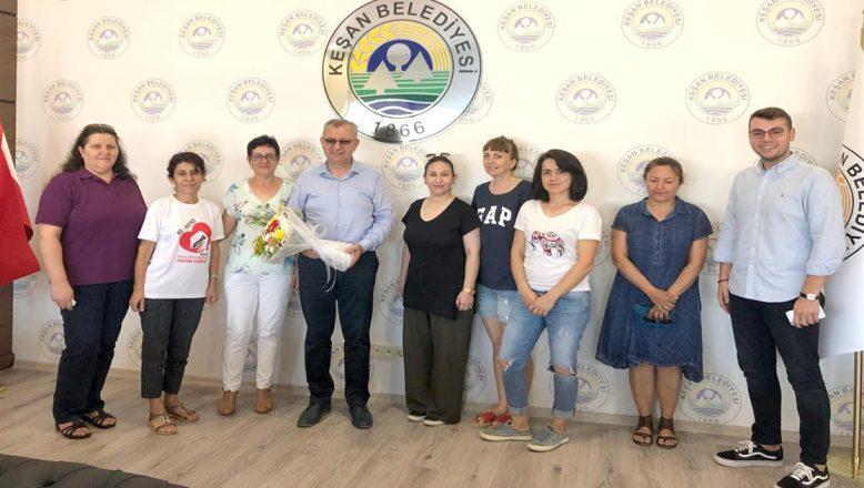 KE-HAYKO'dan Başkanı Helvacıoğlu'na teşekkür ziyareti
