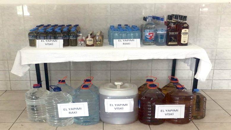 Tekirdağ'da Kaçak içki operasyonu