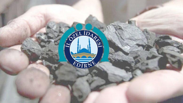 Edirne İl Özel İdaresi 150 ton kömür alacak