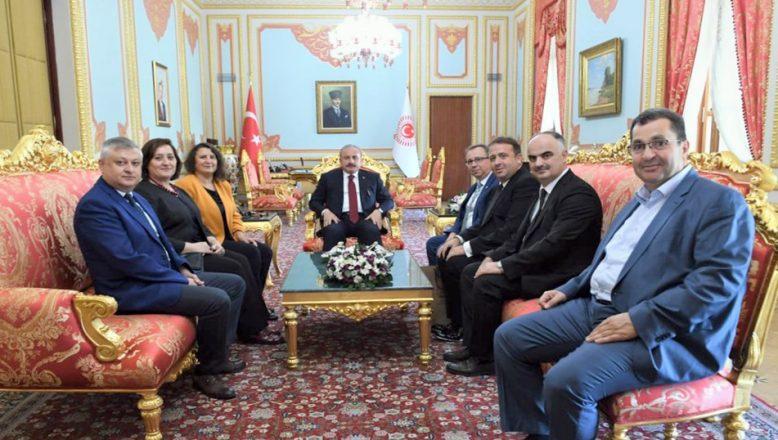 Senatodan TBMM Başkanı Şentop'a ziyaret