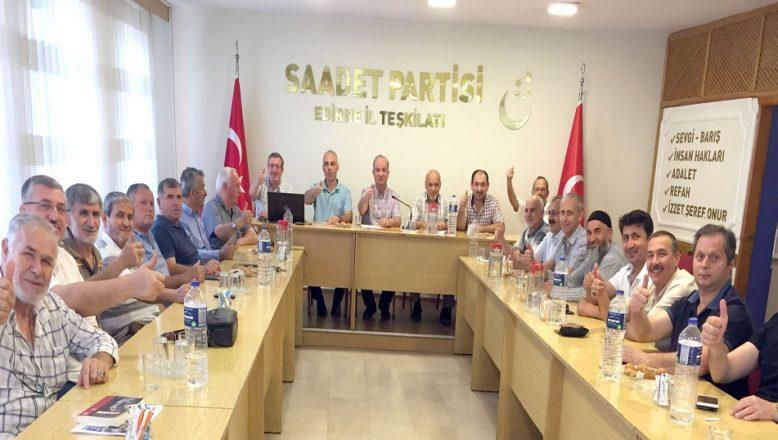 Saadet Partisi Yıllık Planlama Toplantısı yaptı