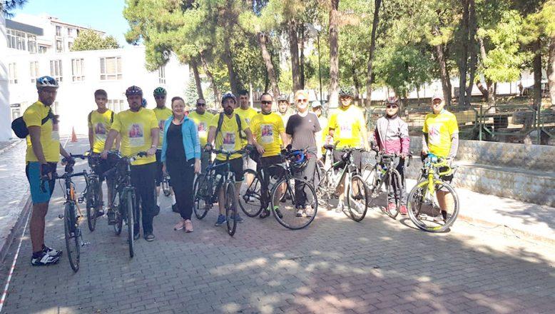 Sağlıklı ve hareketli yaşama bisikletli teşvik