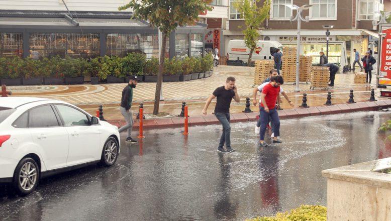 Tekirdağ'da sağanak yağış