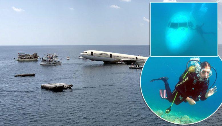 """""""Emekli uçak"""" dalgıçları Saros'a çekiyor"""