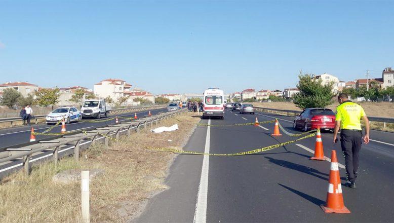 Tekirdağ'da otomobilin çarptığı yaya öldü