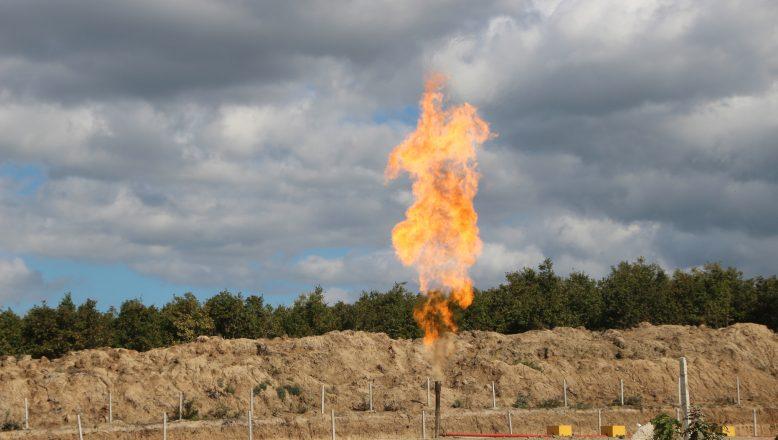 İlk doğal gaz ateşi yandı, üretim başladı