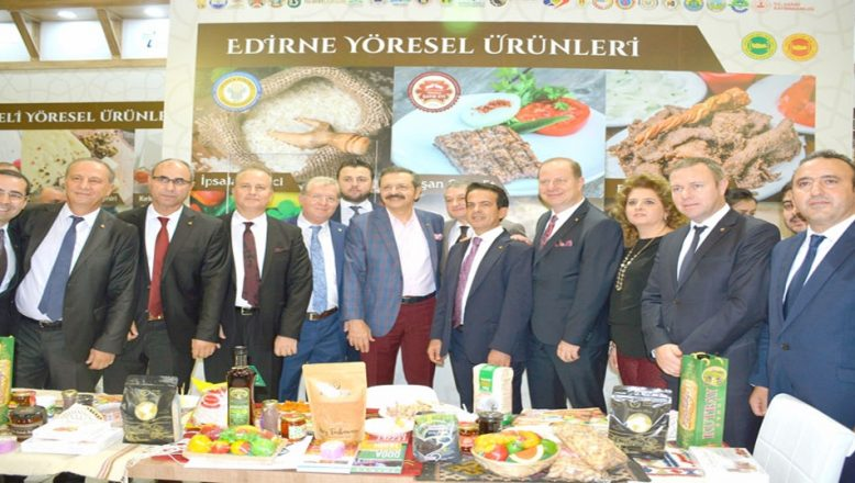 Edirne, Yöresel Ürünler Fuarı'nda tanıtıldı