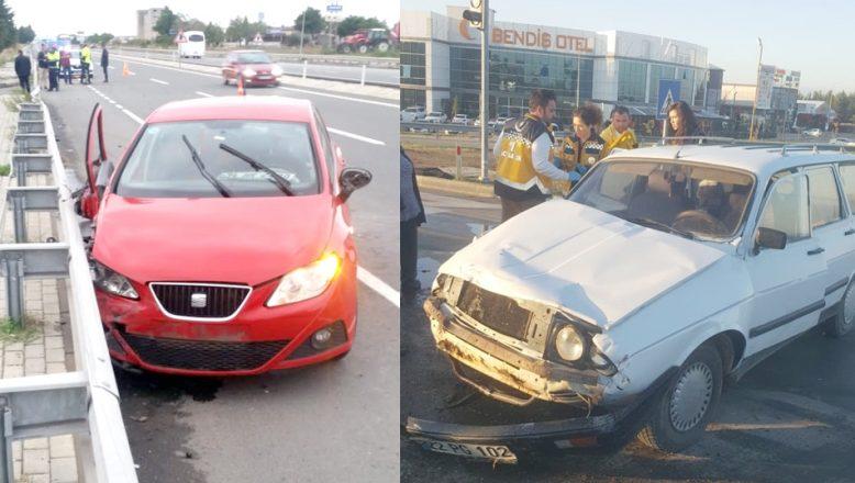 Enez kavşağında kaza; 8 yaralı