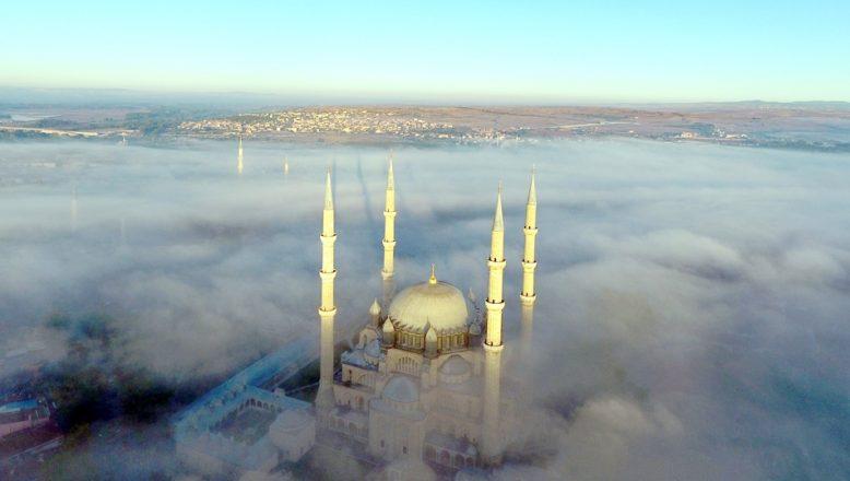 Selimiye sisle bir başka güzel oldu