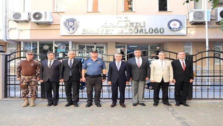 Vali Bilgin'den, Emniyet Müdürü Çengeloğlu'na ziyaret