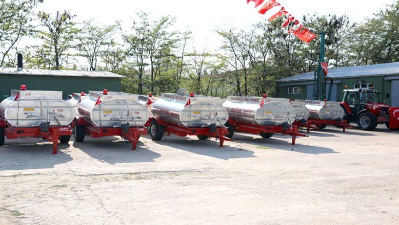 Yangın söndürme su tankerleri, köylere teslim edildi
