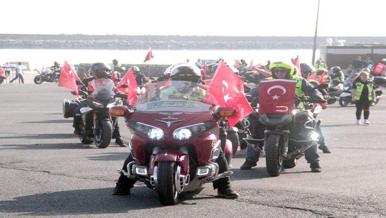 Motosikletlilerden, Barış Pınarı Harekatı'na destek