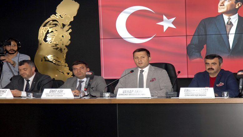 Çerkezköy'de Barış Pınarı Harekatı'na destek açıklaması