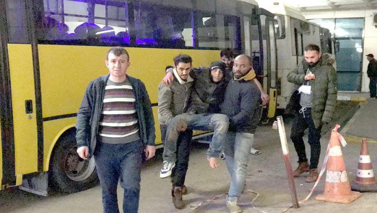 Göçmenler Edirne'de tedavi ediliyor