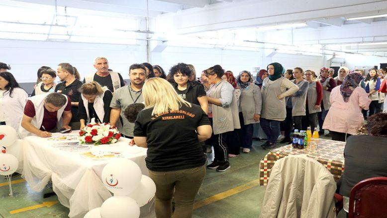 Kırklareli'nde işçiler organ bağışı için sıraya girdi