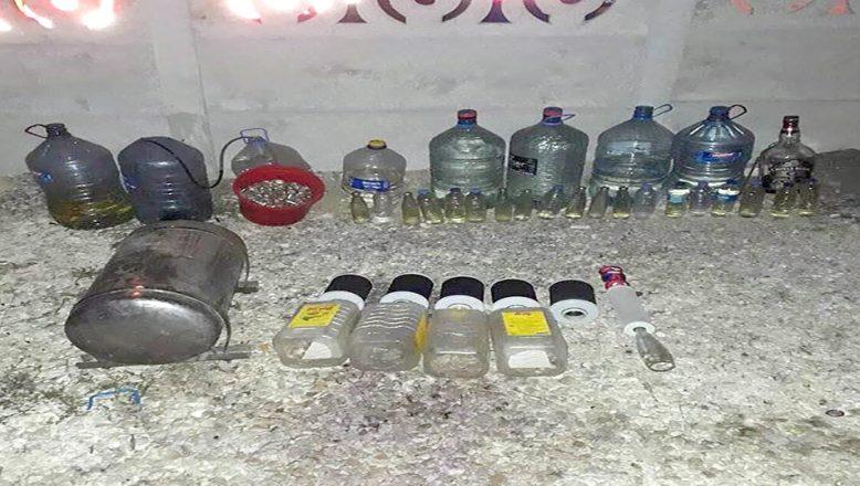 333 litre kaçak içki yakalandı
