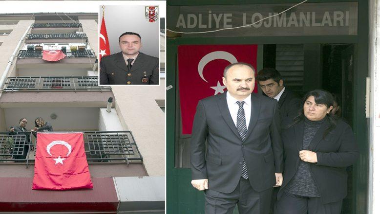 Edirne Valisi Ekrem Canalp, şehidin eşine taziyede bulundu