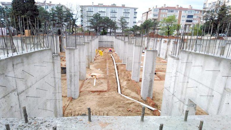 Lise inşaatı çalışmaları sürüyor