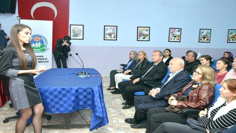 Öğrencilere ve velilere, eğitim semineri verildi