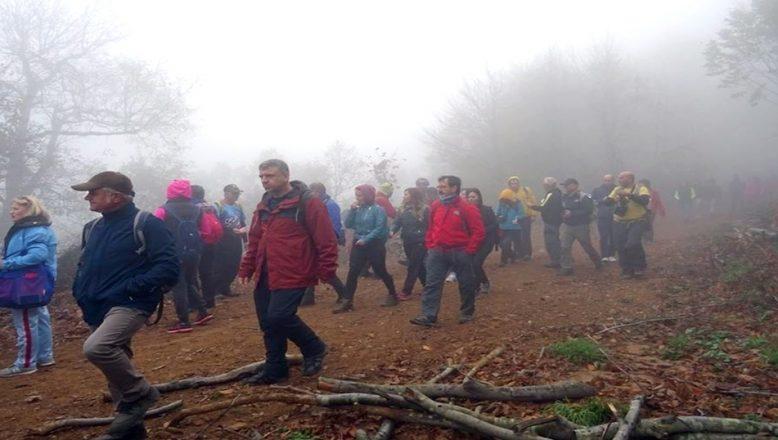 Dumanlı Dağları'nın sisli atmosferi muhteşemdi