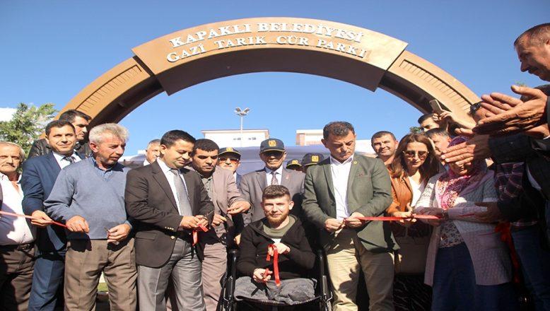 Pençe Harekatı gazisi Cür'ün adı, Tekirdağ'da parka verildi