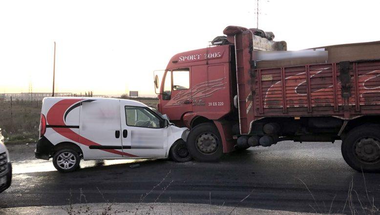 Tekirdağ'da trafik kazası, 1 ölü, 1 yaralı