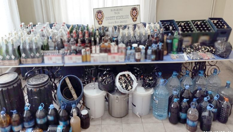 Kırklareli'nde sahte içki operasyonu; 9 gözaltı