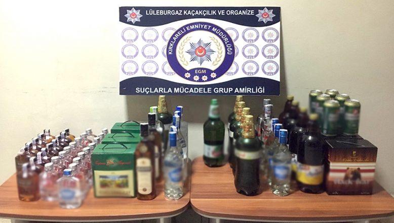 66,7 litre kaçak içki ele geçirildi