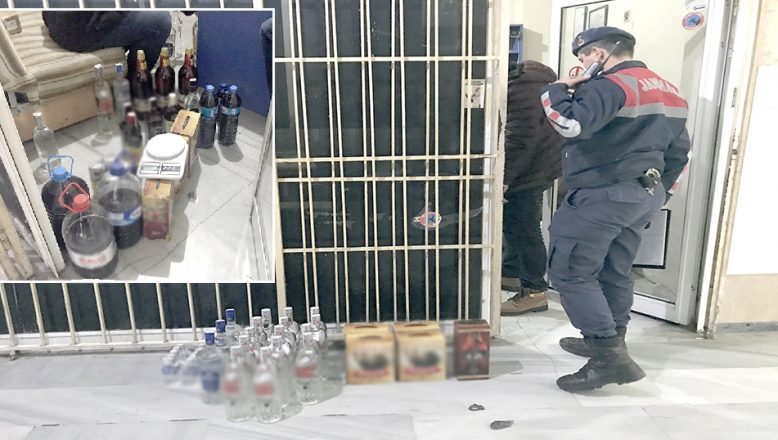 Yılbaşı öncesi kaçak ve sahte içki operasyonu