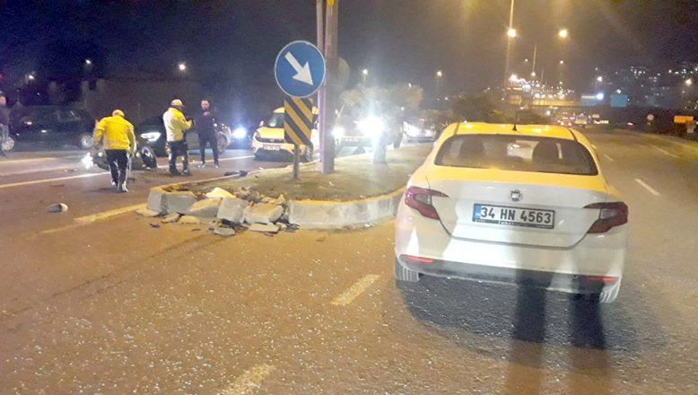 Otomobille çarpışan motosikletin sürücüsü hayatını kaybetti