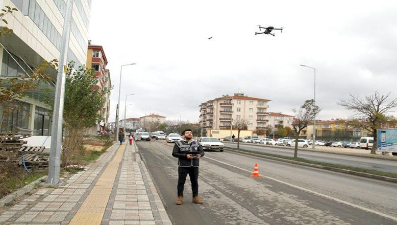 Drone ile trafik uygulaması yapıldı