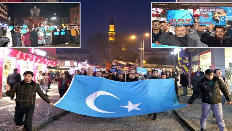 Çin'in, Doğu Türkistan politikaları protesto edildi