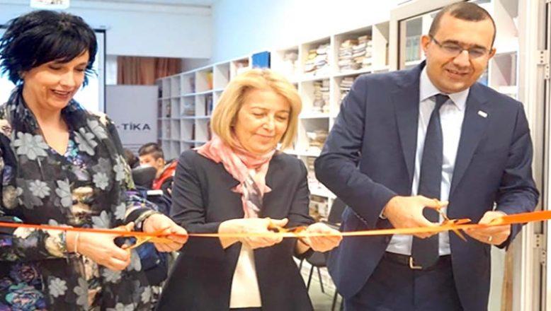 Engelli öğrenciler için kütüphane açtı