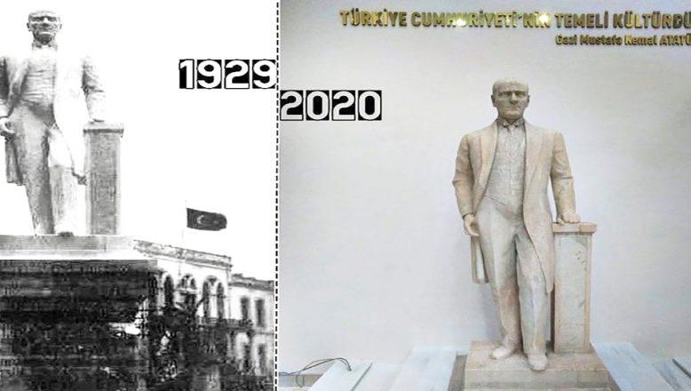 Atatürk'ün heykelinin restorasyonu tamamlandı