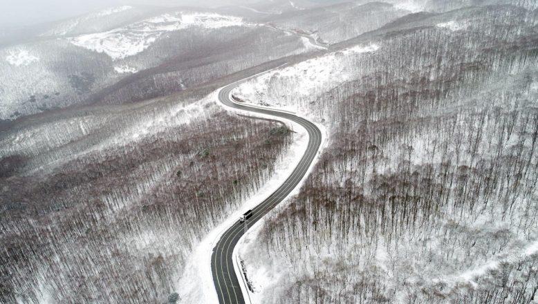 Kırklareli'nin yüksek kesimlerinde kar yağışı etkili oluyor