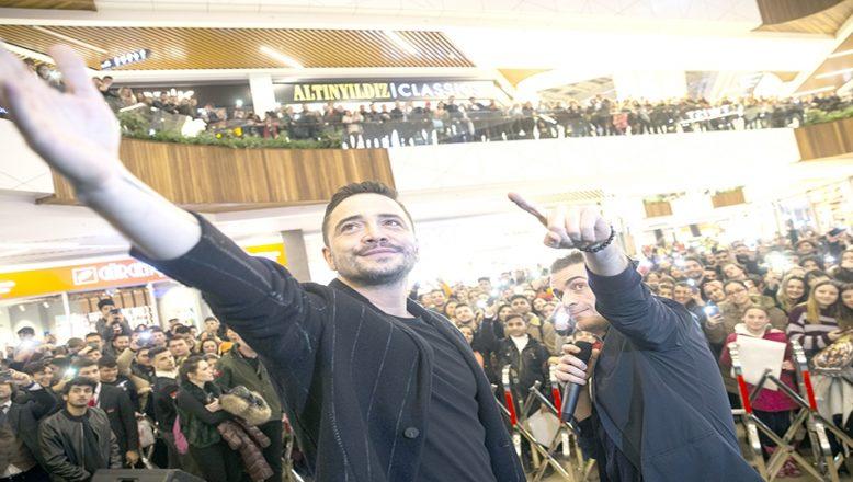 """""""Baba Parası"""" filminin başrol oyuncuları Edirne'deydi"""