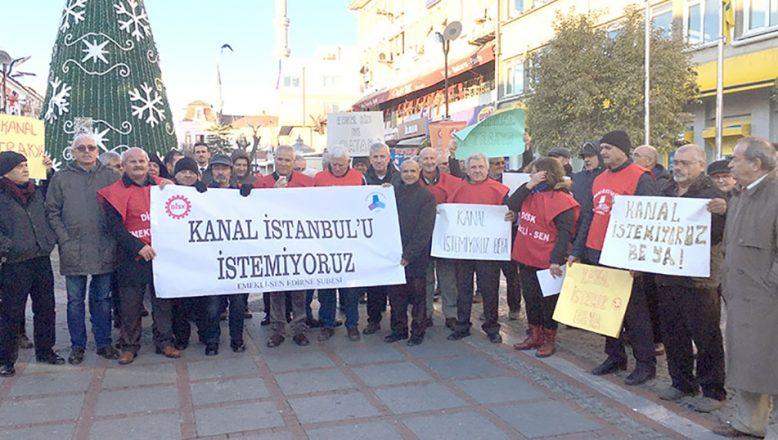 Kanal İstanbul'a bir tepki de DİSK Emekli Sen'den
