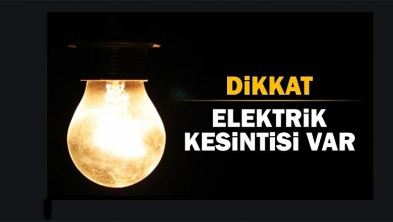 Bu mahallelerde 6 saat elektrik yok!
