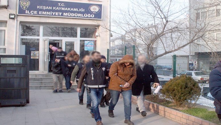 Edirne'de fuhuş operasyonunda 7 şüpheli gözaltına alındı