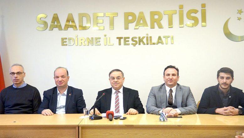 Saadet'ten Kanal İstanbul eleştirisi