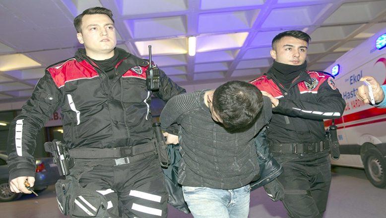 Polisten kaçan sürücü sınır kapısında yakalandı