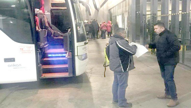 Tur otobüsleri denetlendi
