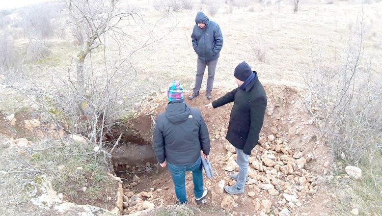 Kırklareli'de kaçak kazı alanında inceleme yapıldı